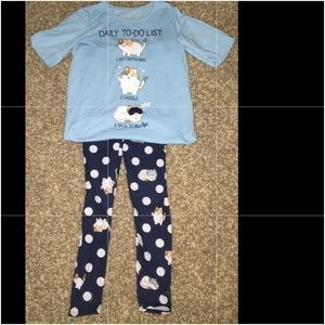 Justice Cat Pajama Set